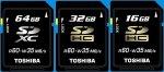 Компания Toshiba анонсировала самую быструю в мире карту памяти типа SDXC объемом 64 ГБ