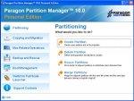 Работа с дисками: Paragon Partition Manager v.10.0